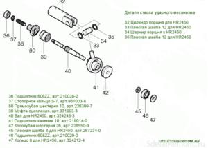 Устройство Перфоратора Макита 2450 Схема Сборки